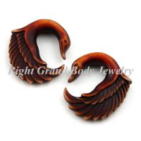 Buy cheap Christmas Spiral Ear Tapers , Brown Swan Earrings For Girls from wholesalers