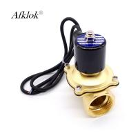China 12 Volt Water Fountain Solenoid Valve 40mm With BSP Connector 0-10 Bar on sale