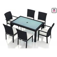 Cheap Outdoor Patio Furniture High Top Table , Commercial Grade Outdoor Dining Furniture Table for sale