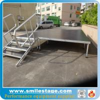 Buy cheap Portable 1.2 m-2 m adjustable height stage with plywood platform from wholesalers
