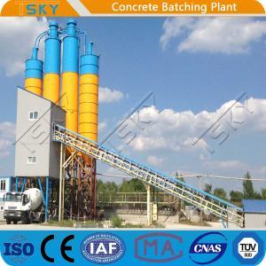 Cheap Twin Shaft Mixer Belt Conveyor HLS120 Tower Batching Plant for sale