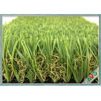W Shape Outdoor Synthetic Grass / Artificial Grass Waving Surface 12800 Dtex