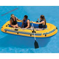 Cheap Yellow Inflatable Raft Boat , Adults Inflatable Dinghy Boat With Durable Handles for sale