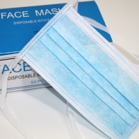 Buy cheap Disposable String tie-on on the back 3ply protective surgical non woven face from wholesalers