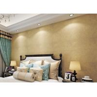 Cheap Gold Multifilament Nonwoven Water Resistant Wallpaper / Strippable Wall Paper for sale