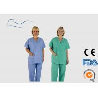 Cheap Medical Disposable Scrub Suits PP Plastic Material Liquid Proof 40G for sale
