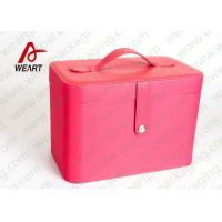 Inside Leopard Fabric Cosmetic Drawer Paper Box , Recyclable Travel Makeup Organizer
