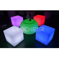 China Wedding Lighted Led Cube Chair with rechargeable lithium battery on sale