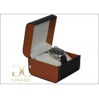 China PU Leather Watch Storage Case With Pillow , Leather Mens Watch Box , 110 x 110 x 85 mm on sale