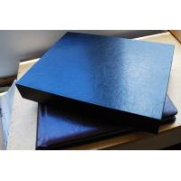 Cheap Custom Photo Album Materials , 12X12 inch Square Thick Wooden Black Leather Box for sale