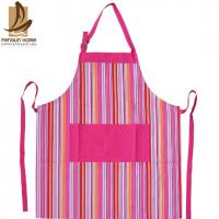 Cheap Pretty Blue/Pink Striped Cotton Kitchen Apron Personalised Cooking Aprons for sale
