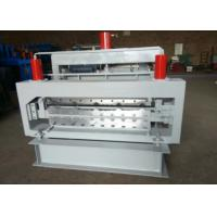 Cheap Color Steel Step Tile Roll Forming Machine Solid Shaft Touch Screen Control for sale