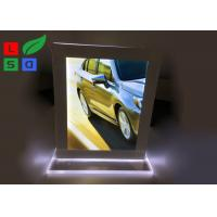 Cheap Double Sided LED Crystal Light Box A4 A5 Format Size For Countertop Menu Display for sale