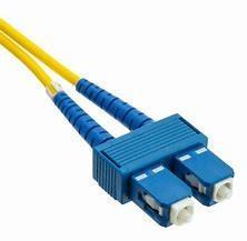 Cheap SC to SC Duplex Fiber Optic Patch Cord 9 / 125 μm Singlemode for Terminal Box for sale