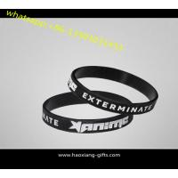 Cheap Supply Cheap promotion gifts black silicone wristband/bracelet 202*12*2mm for sale