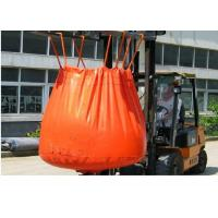 Cheap Waterproof Orange PVC Recycled Jumbo Bag Storing Hazardous And Corrosive Products for sale