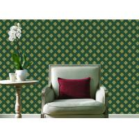 Buy cheap Embossed Pvc Contemporary Wall Coverings , Four Leaf Home Floral Wallpaper For from wholesalers