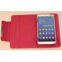 Cheap Pink 7 inch Tablet Cases Universal Tablet Flip Leather Case Two Slot Stand for sale