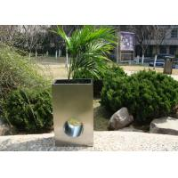 Cheap Eco Friendly Stainless Steel Garden Pots , Stainless Steel Plant Containers for sale