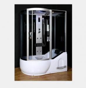 China Polished Frame Steam Shower Enclosure , Steam Shower Cubicle Single Door Sliding Style on sale