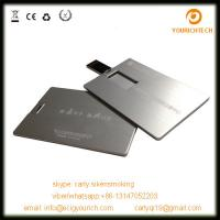 China metal credit card shape usb memory disk/usb flash drives on sale