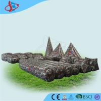 Cheap PVC Inflatable Camouflage Obstacle 23pcs , Obstacle Game , Inflatable Sports Games for sale
