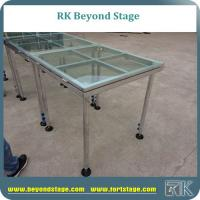 Plexiglass stage platform for concert and T show event performance event stage with glass stage deck Manufactures