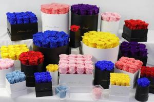 Cheap Preserved Flowers Christmas gift  China long life rose guns flower box gift rose gift for sale