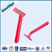 Cheap No Electric Plastic Double Edge Razor With Fixed Head And Comfortable Plastic Handle for sale