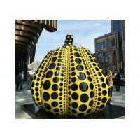 Cheap Giant Stainless Steel Outdoor Painted Pumpkin Sculpture for Urban Landscape for sale