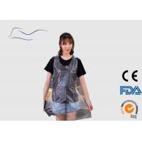 Cheap CPE / PE Disposable Plastic Aprons Ties On Neck And Waist Type Transparent Color for sale