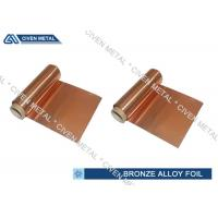 Cheap ISO Standard Phosphor Bronze Foil / Alloy Foils with protective Surface coatings for sale