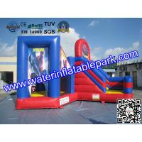 Buy cheap Red Blue Commercial Outdoor Inflatable Spiderman Jumper Combo Durable from wholesalers