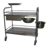 Manual Mobile Surgical Cure Trolley With One Bowl And One Bucket