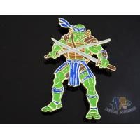 Cheap Custom Logo Ninja Turtle Zinc Alloy Metal Lapel Pin Bages, Cut Out Stye Shiny Gold Plating With Rupper for sale