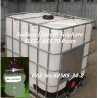 Cheap Detergent Chemical Sodium Laureth Sulphate 1 EO/2 EO/3 EO,SLES/AES 70% for Shower Ge for sale