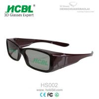 Circular Polarized 3D Theatre Glasses With Nose Pad For Home / 3d Movie Eyeglasses