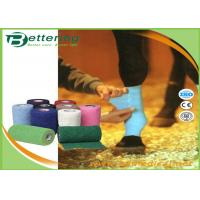 Coloured Non Woven Elastic Cohesive Bandages For Horses Breathable Latex Free