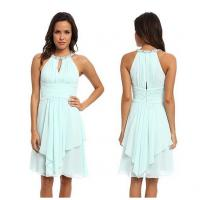 Fashion light blue polyester sleeveless western casual spring dresses