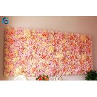 Buy cheap Waterproof Artificial Flower Wall Backdrop Nontoxic Easy Installation from wholesalers