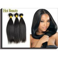Cheap Natural Black Remy Virgin Human Hair Extensions Straight Type for sale