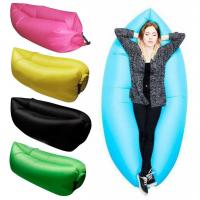 China New Functional Outdoor One Mouth Inflatable Lazy  Bag Air Inflatable Sleeping Bags Banana Sleeping Bags on sale