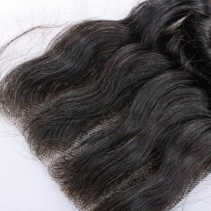 China Top Quality Wholesale Peruvian Hair Deep Wavy Silk Top Virgin Hair Lace Closure on sale