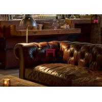 Cheap Leather / Fabric Hotel Restaurant Bar Stools Chesterfield Sofa American Style for sale