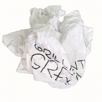 Cheap No Dirty 40kg/Bale White Cotton Rags With Print And Logo for sale