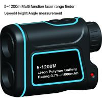 Cheap 1200m Multi function Golf Rangefinder with multi function of measuring the range, speed, height, angle for sale
