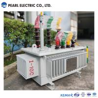 Cheap 100 Kva Amorphous Alloy Transformer , Waterproof Oil Immersed Transformer for sale