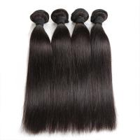 Cheap Double Machine Weft Virgin Human Hair Bundles Long Straight Hair Extensions For Thin Hair for sale
