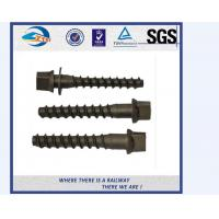 High Hardness Railway Screw Spike / Coach Screw used on high-speed tracks Manufactures
