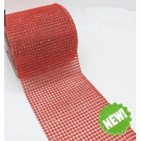 Cheap 5 yards 10 yards Sew on Plastic Rhinestone Mesh Trimming Wholesale For Wedding Decors for sale